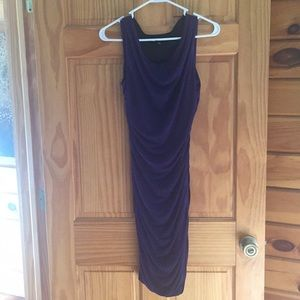 Purple ruched tank dress